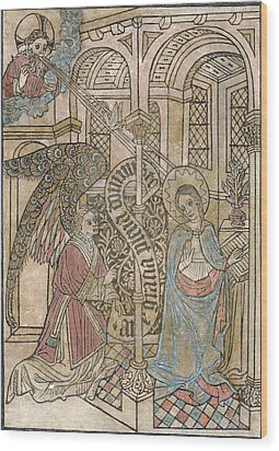 The Annunciation, Depicting Wood Print by Everett