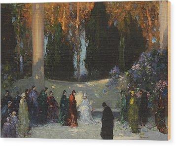 The Audience Wood Print by TE Mostyn