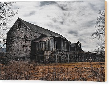 The Barn At Pawlings Farm Wood Print by Bill Cannon