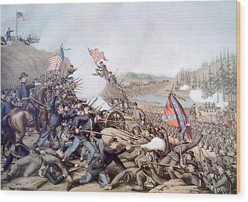 The Battle Of Franklin, November 30 Wood Print by Everett