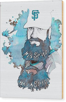 The Beard Wood Print by Michael  Pattison
