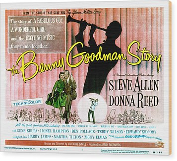 The Benny Goodman Story, Donna Reed Wood Print by Everett