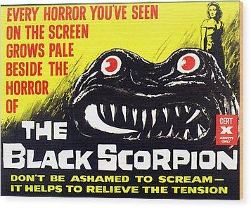 The Black Scorpion, Top Right Mara Wood Print by Everett