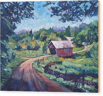The Bridges Of East Randolph Vermont Wood Print by David Lloyd Glover