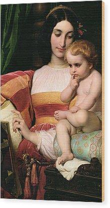 The Childhood Of Pico Della Mirandola Wood Print by Hippolyte Delaroche