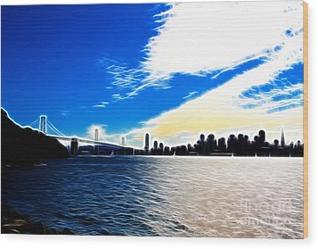 The City By The Bay Wood Print by Wingsdomain Art and Photography