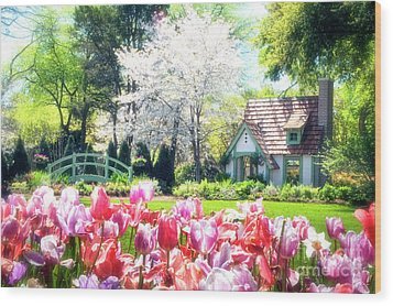 The Claude Monet Small House Wood Print by Tamyra Ayles