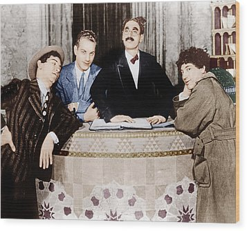 The Cocoanuts, From Left Chico Marx Wood Print by Everett