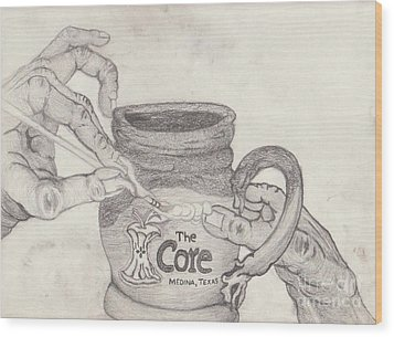 The Core Mug Wood Print by TK Mayfield