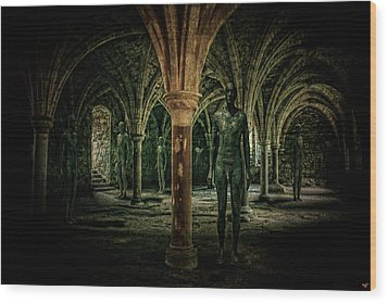 The Crypt Wood Print by Chris Lord