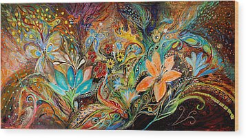 The Dance Of Lizards Wood Print by Elena Kotliarker