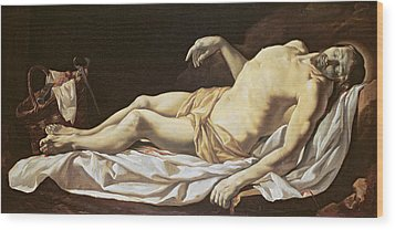 The Dead Christ Wood Print by Charles Le Brun