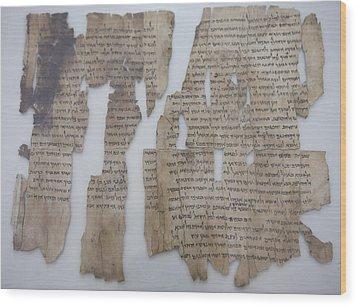 The Dead Sea Scrolls Wood Print by Taylor S. Kennedy