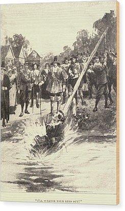 The Ducking Stool Originated Wood Print by Everett