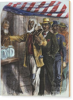 The First Vote, 1867 Wood Print by Granger