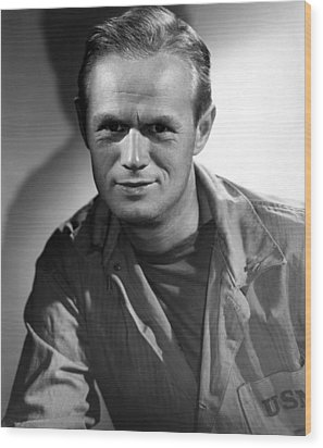 The Frogmen, Richard Widmark, 1951 Wood Print by Everett