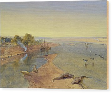 The Ganges Wood Print by William Crimea Simpson