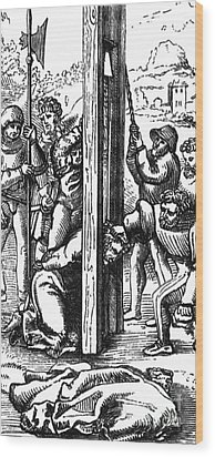 The Guillotine, 18th Century Wood Print by Science Source