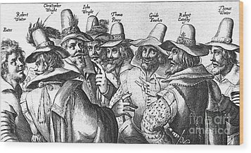 The Gunpowder Rebellion, 1605 Wood Print by Photo Researchers