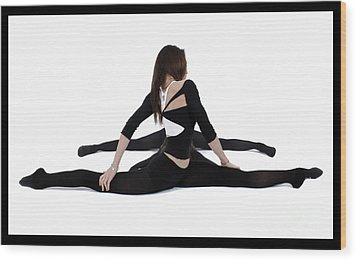 The Gymnast Wood Print by Pierre-jean Grouille