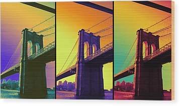 The Hardest Thing In Life To Learn Is Which Bridge To Cross  Wood Print by Jenn Bodro