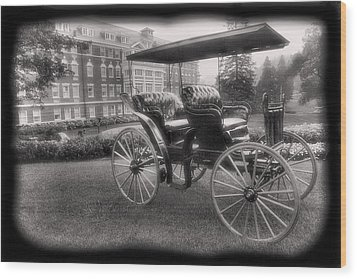 The Homestead Carriage I Wood Print by Steven Ainsworth