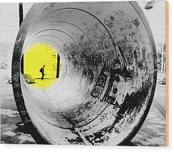 The Light At The End Of The Tunnel Wood Print by Valentino Visentini
