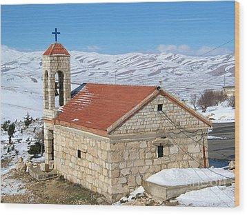 The Monastery Of Sheirobeem Wood Print by Issam Hajjar