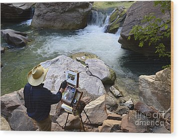 The Narrows Quality Time Wood Print by Bob Christopher