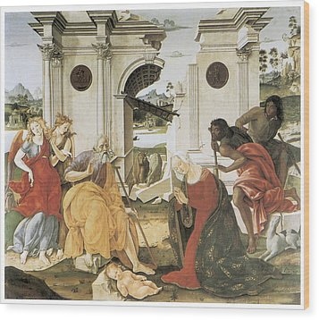 The Nativity Wood Print by Francesco Di Giorgio Martini