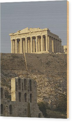 The Parthenon On The Acropolis Wood Print by Richard Nowitz