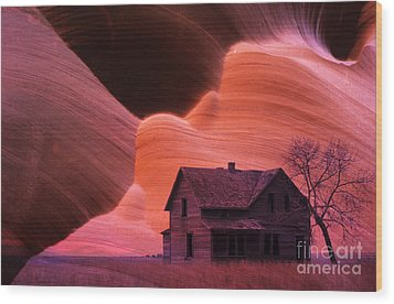 The Perfect Storm Wood Print by Bob Christopher