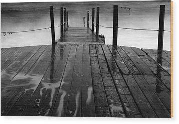 The Pier...protaras Wood Print by Stelios Kleanthous