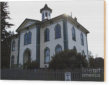The Potter School House . Bodega Bay . Town Of Bodega . California . 7d12477 Wood Print by Wingsdomain Art and Photography