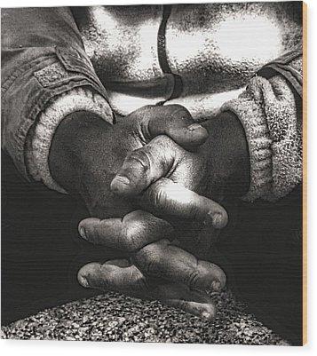 The Prayer Wood Print by Kenneth Mucke