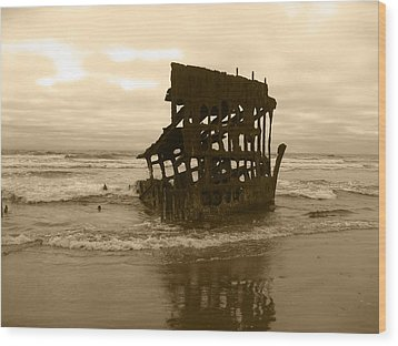 The Remains Of A Ship Wood Print by Kym Backland
