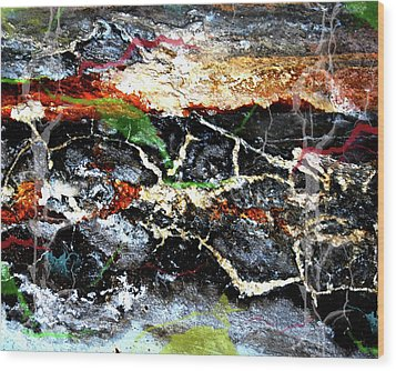 The Rock Wood Print by Jerry Cordeiro