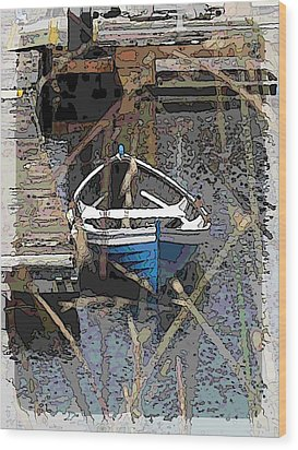 The Rowboat Wood Print by Tim Allen