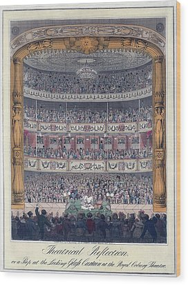 The Royal Coburg Theatre And Audience Wood Print by Everett