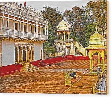 The Royal Corridor Wood Print by Makarand Purohit