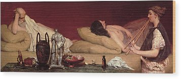 The Siesta Wood Print by Sir Lawrence Alma-Tadema