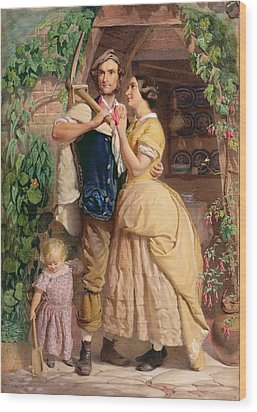 The Sinews Of Old England Wood Print by George Elgar Hicks