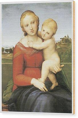 The Small Couper Madonna Wood Print by Raffaello Sanzio