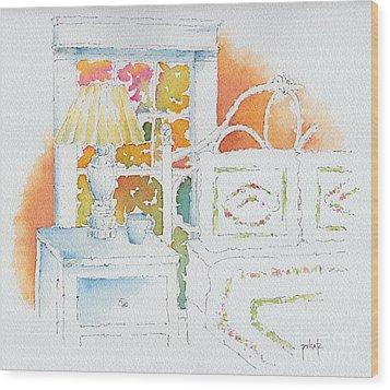 The Terra Cotta Room Wood Print by Pat Katz