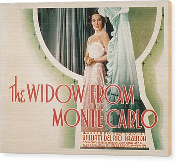 The Widow From Monte Carlo, Dolores Del Wood Print by Everett