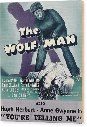 The Wolf Man, As The Wolf Man Lon Wood Print by Everett