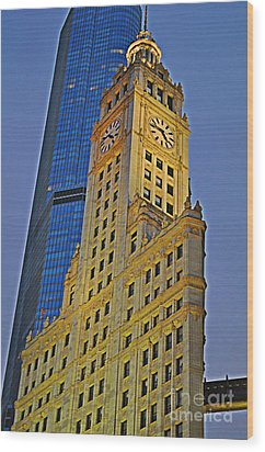 The Wrigley Building Wood Print by Mary Machare