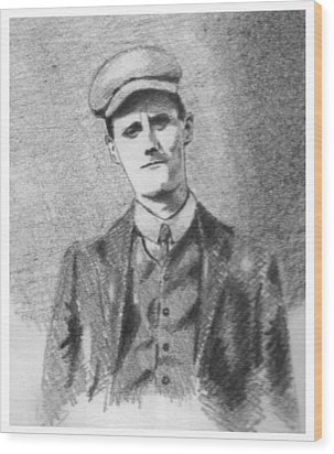 The Young James Joyce Wood Print by John  Nolan
