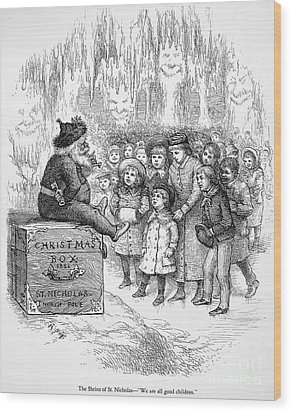 Thomas Nast: Christmas Wood Print by Granger