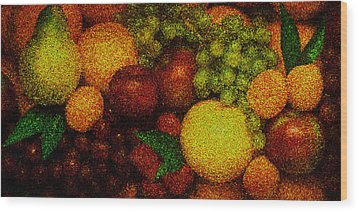 Tiled Fruit  Wood Print by Mauro Celotti